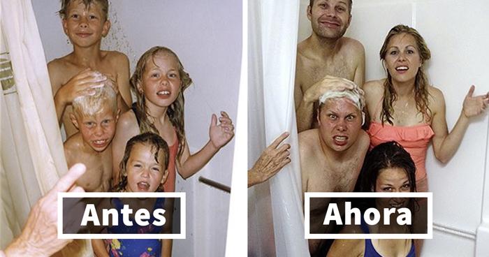 10+ Creativas recreaciones de fotos de la infancia (Añade la tuya)