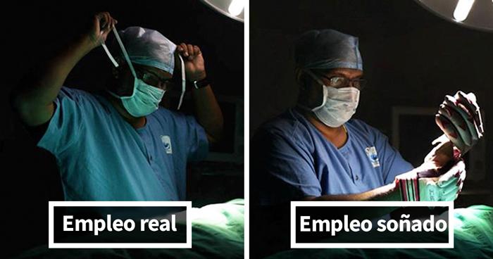 Estas elocuentes fotos muestran el verdadero trabajo de la gente comparado con lo que soñaban ser de niños