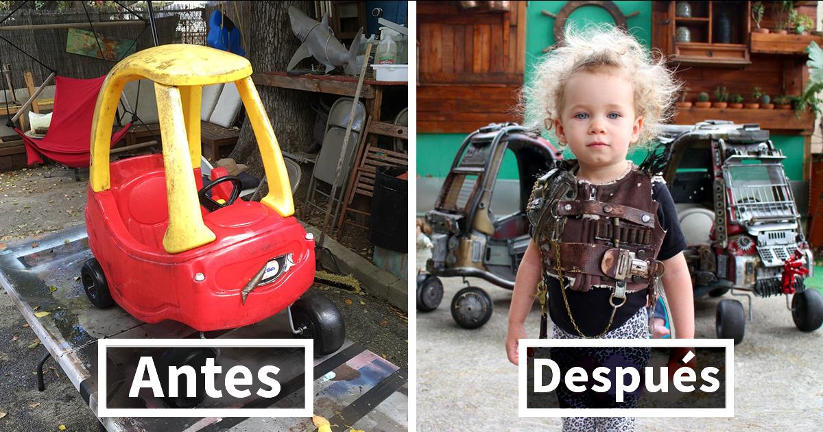 Este padre transformó los coches de juguete de sus hijos en los vehículos macarras de Mad Max