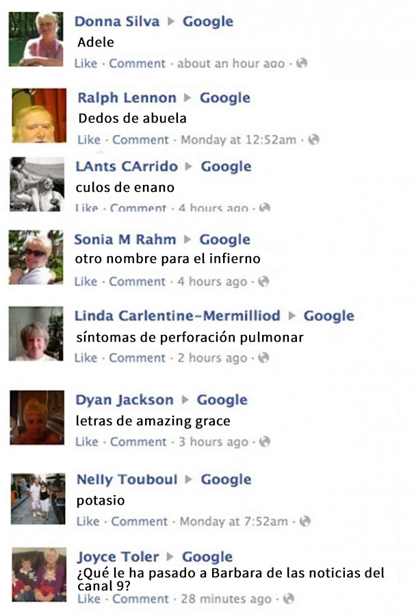 Esto Es Facebook, No Google