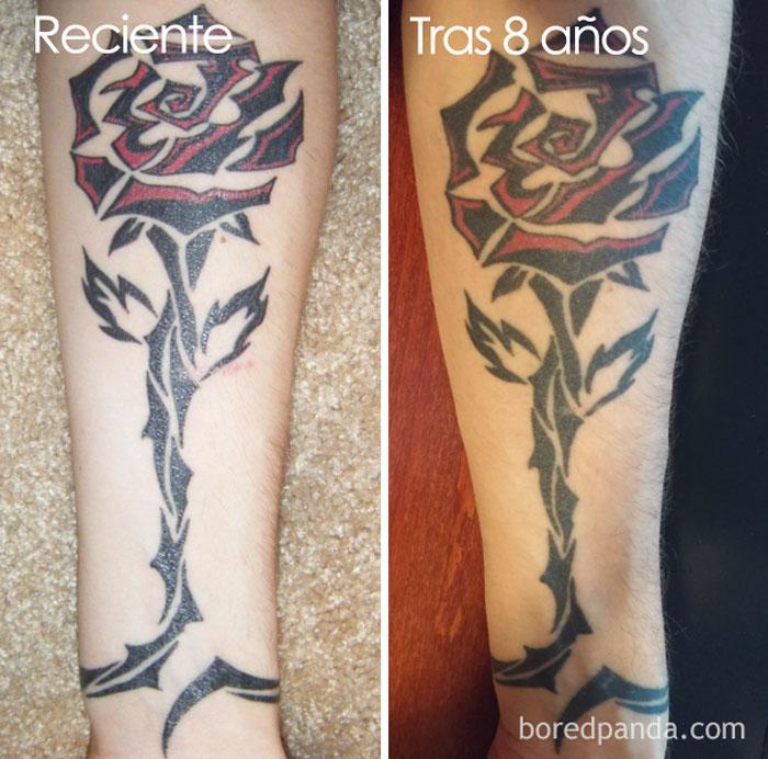 Tatuajes Del Tiempo estás pensando en tatuarte? estas imágenes revelan cómo envejecen