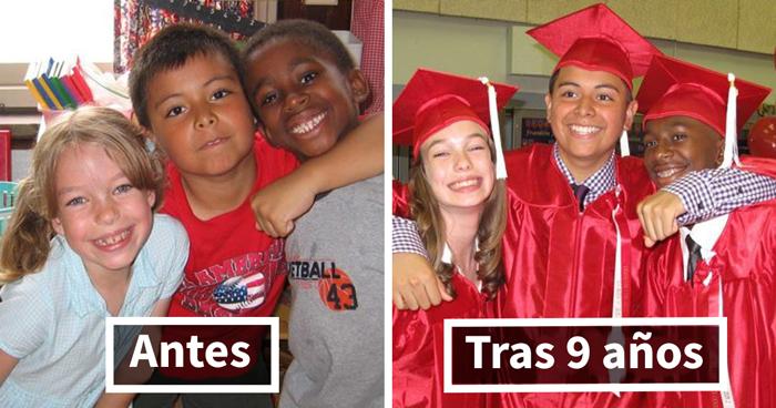 10+ Fotos increíbles de antes y ahora mostrando amistades duraderas (añade la tuya)