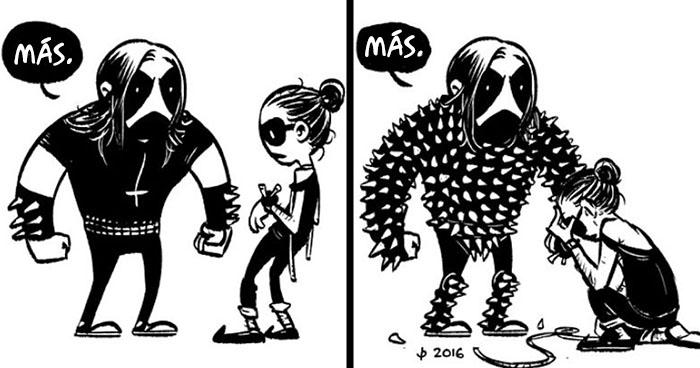 10+ Adorables cómics sobre Black Metal para complacer a tu lado oscuro