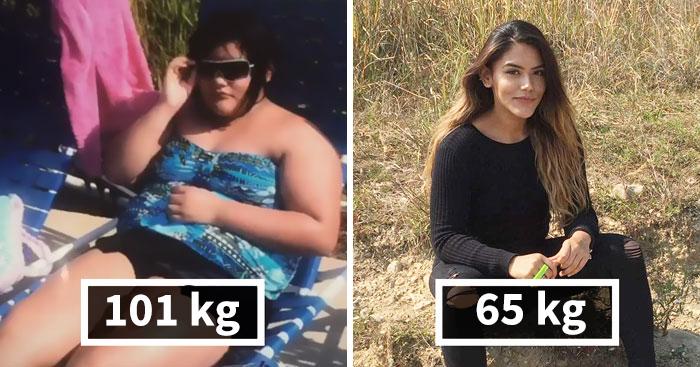Esta mujer de 101 kilos muestra lo que 2 años de gimnasia hicieron a su cuerpo, su transformación es increíble