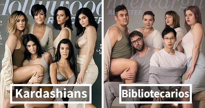 Estos bibliotecarios intentaron imitar unas fotos de las Kardashian, y el resultado es mejor que el original