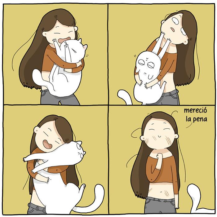 Ilustro cómo es vivir con un gato en 18 cómics
