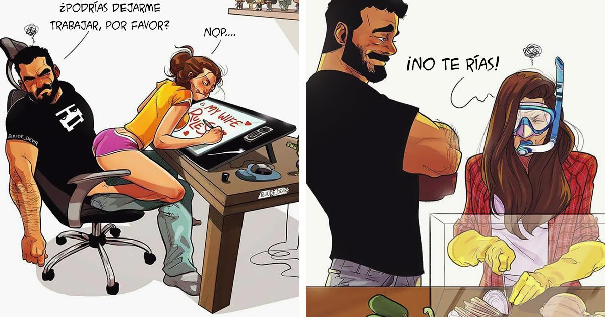 Este artista ilustra su vida diaria con su esposa (21 nuevos cómics)