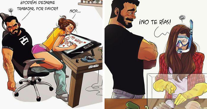 Este Artista Ilustra Su Vida Diaria Con Su Esposa 21 Nuevos Cómics