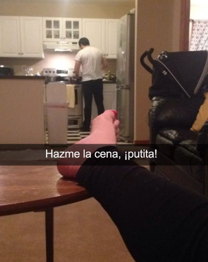 Snap De Mi Esposa Embarazada Mientras Estoy En La Cocina...