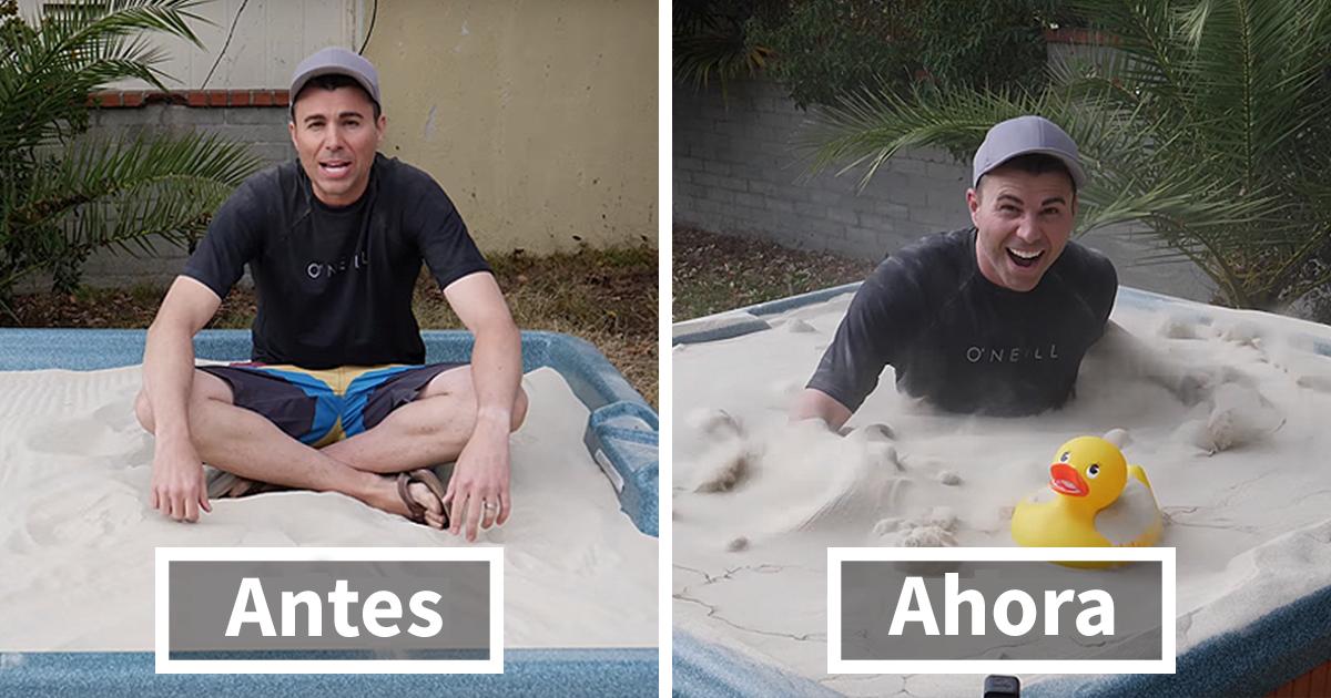"""Este ex-ingeniero de la NASA sorprendió a todos al convertir arena en """"sopa líquida"""", así es como lo hizo"""