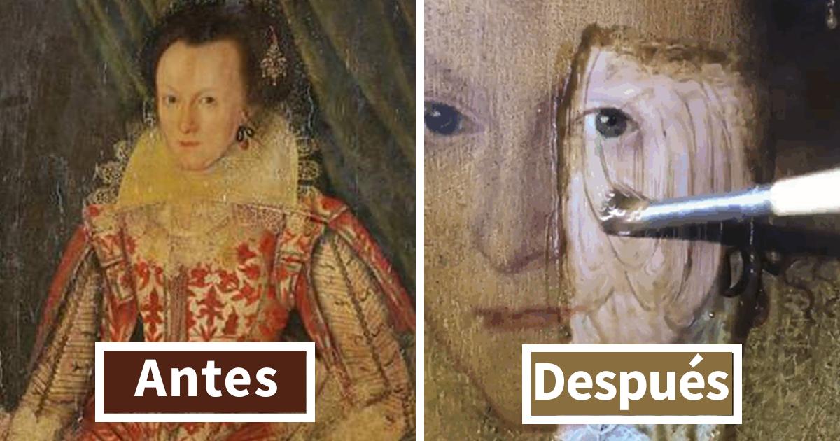Este experto en arte retiró el barniz amarilleado de hace 200 años de este cuadro de 399 años, y la diferencia es increíble