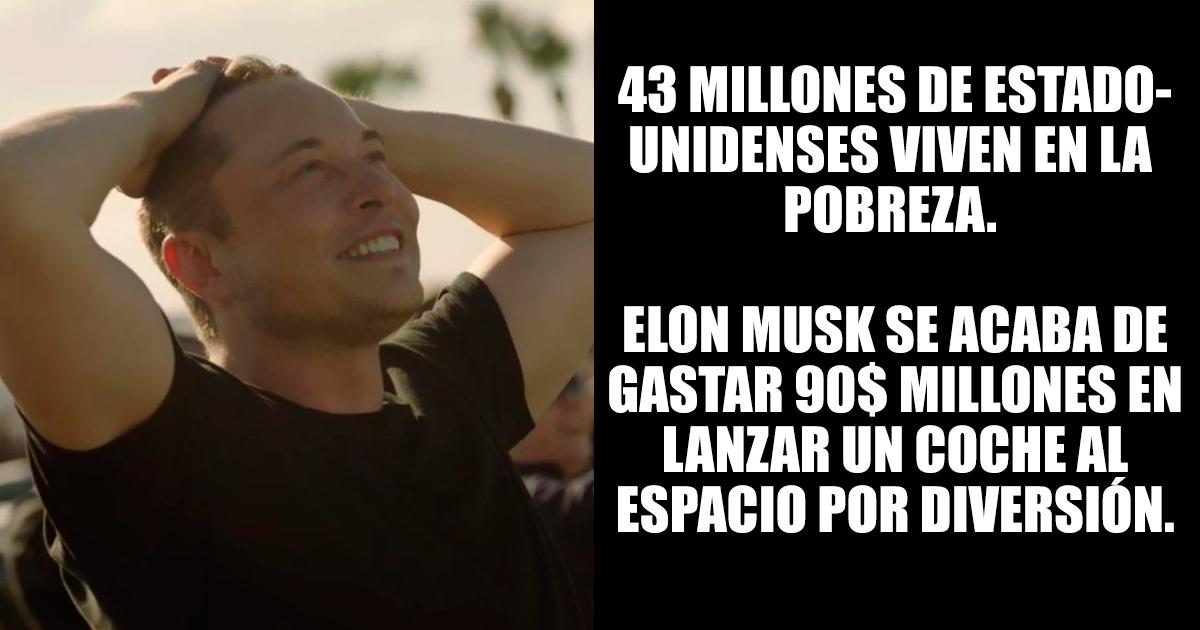 Intentan atacar a Elon Musk por gastarse 90$ millones en lanzar un coche al espacio, pero fueron acallados ingeniosamente