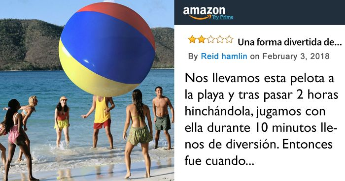 Internet no puede dejar de reírse con esta reseña de una pelota hinchable  gigante que ha dejado en Amazon un cliente descontento a7f91984f5e9