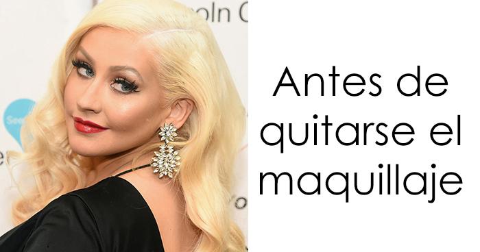Tras 20 años en los escenarios usando maquillaje, Christina Aguilera realiza una sesión sin él, y no se la reconoce