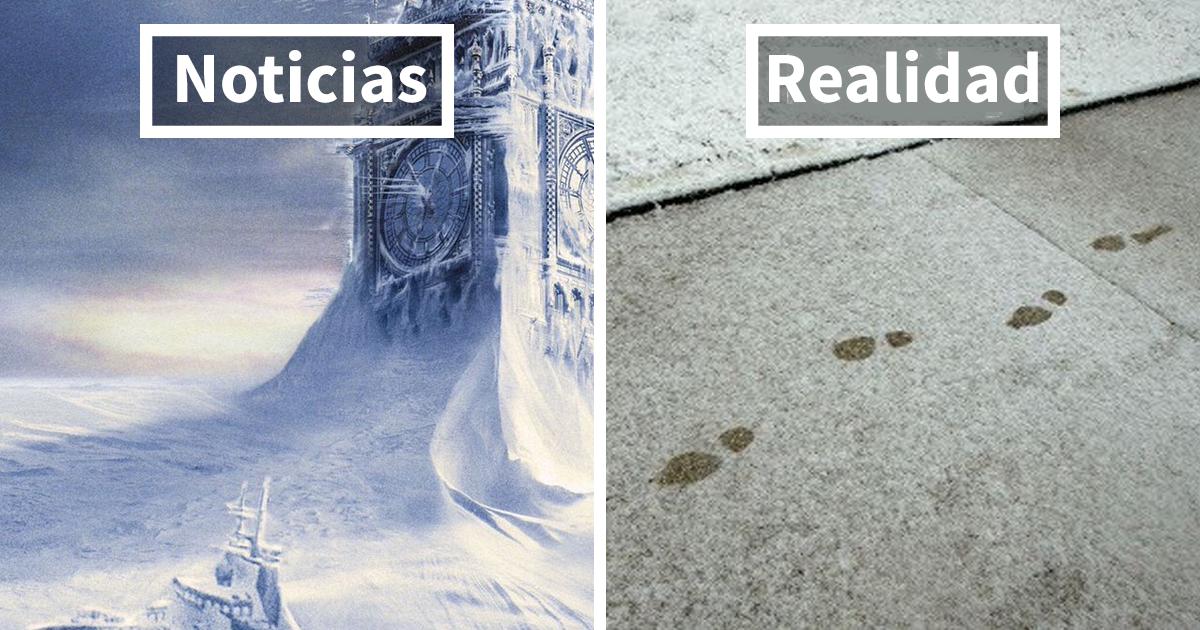 Internet no para de reírse del caos absoluto de los británicos causado por un poco de nieve