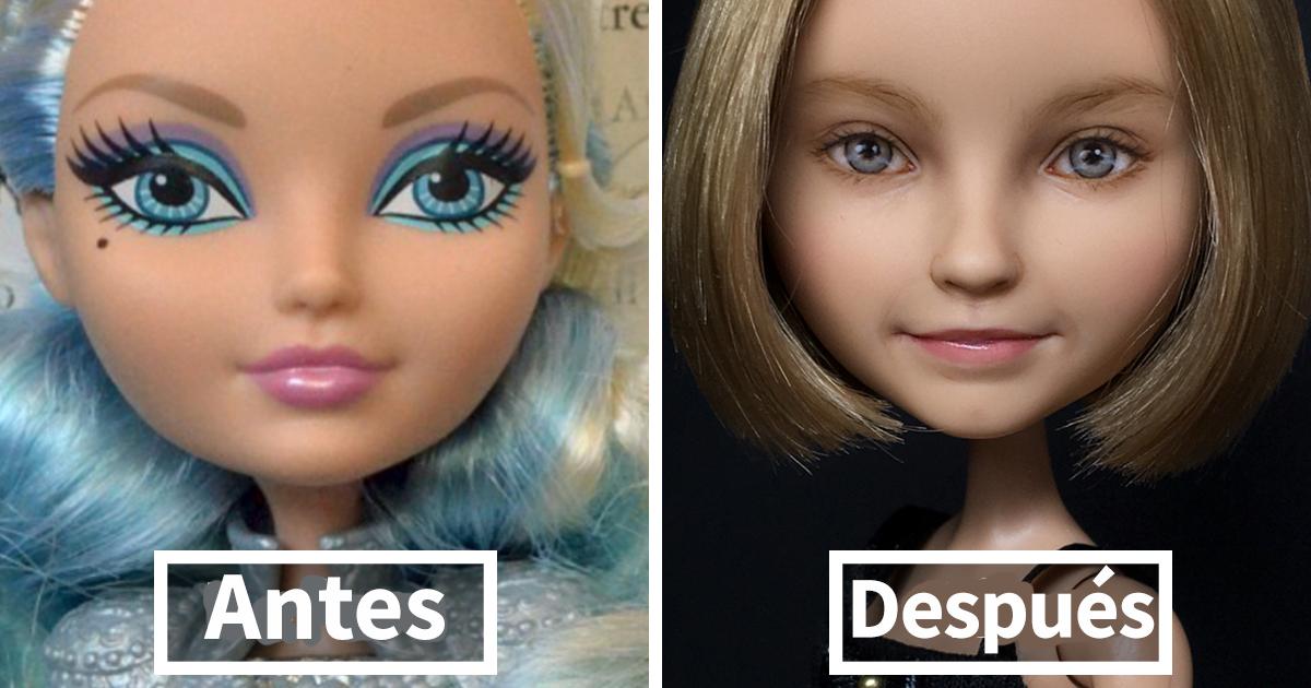 Esta artista ucrania les quita el maquillaje a las muñecas para repintarlas, y el resultado es muy auténtico