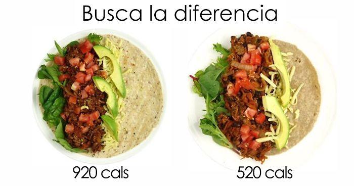 Comidas con 500 calorias o menos