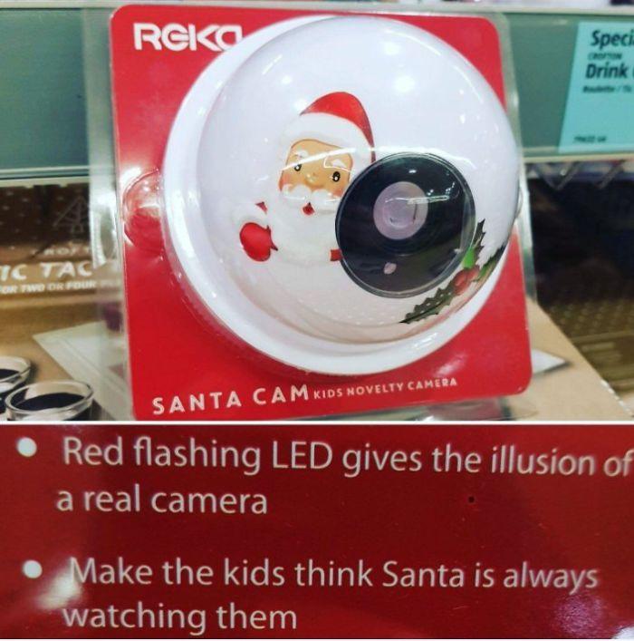 Falsa Cámara Para Que Los Niños Crean Que Papá Noel Siempre Les Vigila