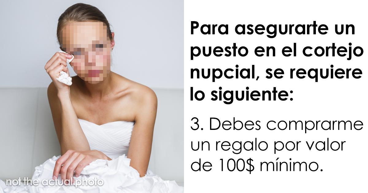 Esta lista de exigencias de una novia es tan horrible que su propia hermana la compartió online