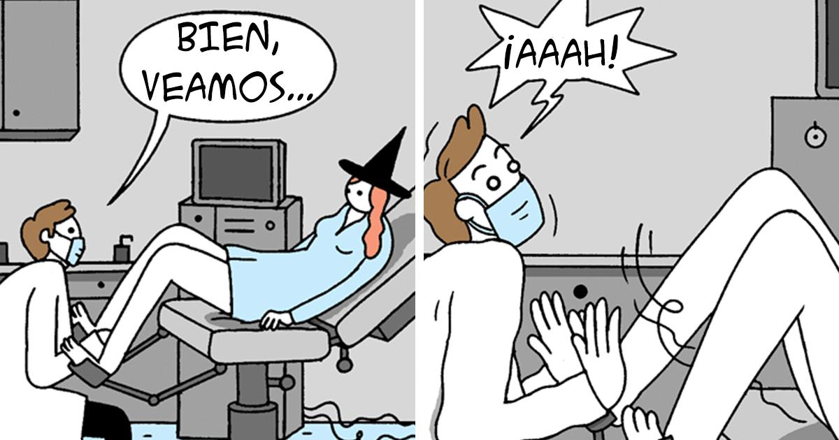 7 Cómics divertidos e inapropiados sobre una bruja piruja