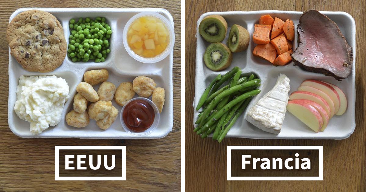9 Imágenes que muestran lo que comen los niños en el colegio en distintos países