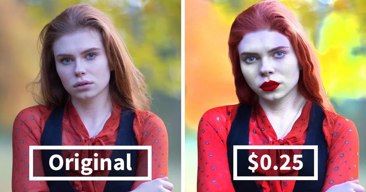 Esta mujer contrató a retocadores de fotos por distintos precios, y los resultados hablan por sí solos