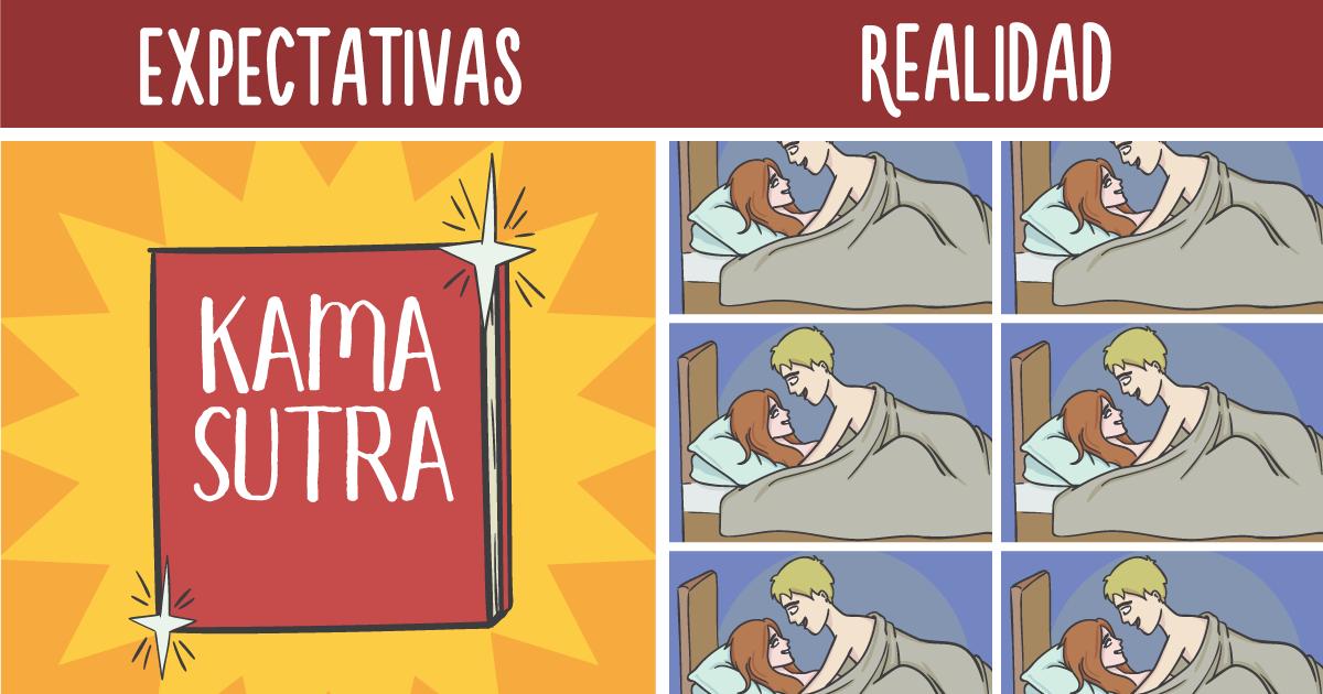 La diferencia entre las expectativas y la realidad de las relaciones en 20 ilustraciones