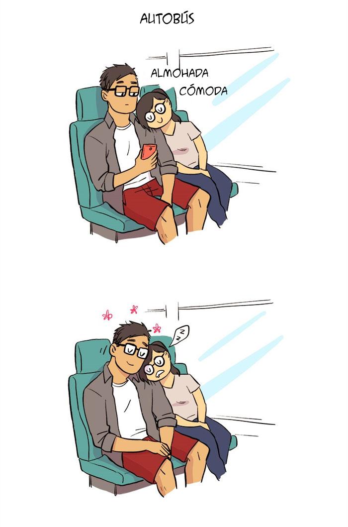 Esta artista ilustra su relación con su novio informático en 13 cómics adorables