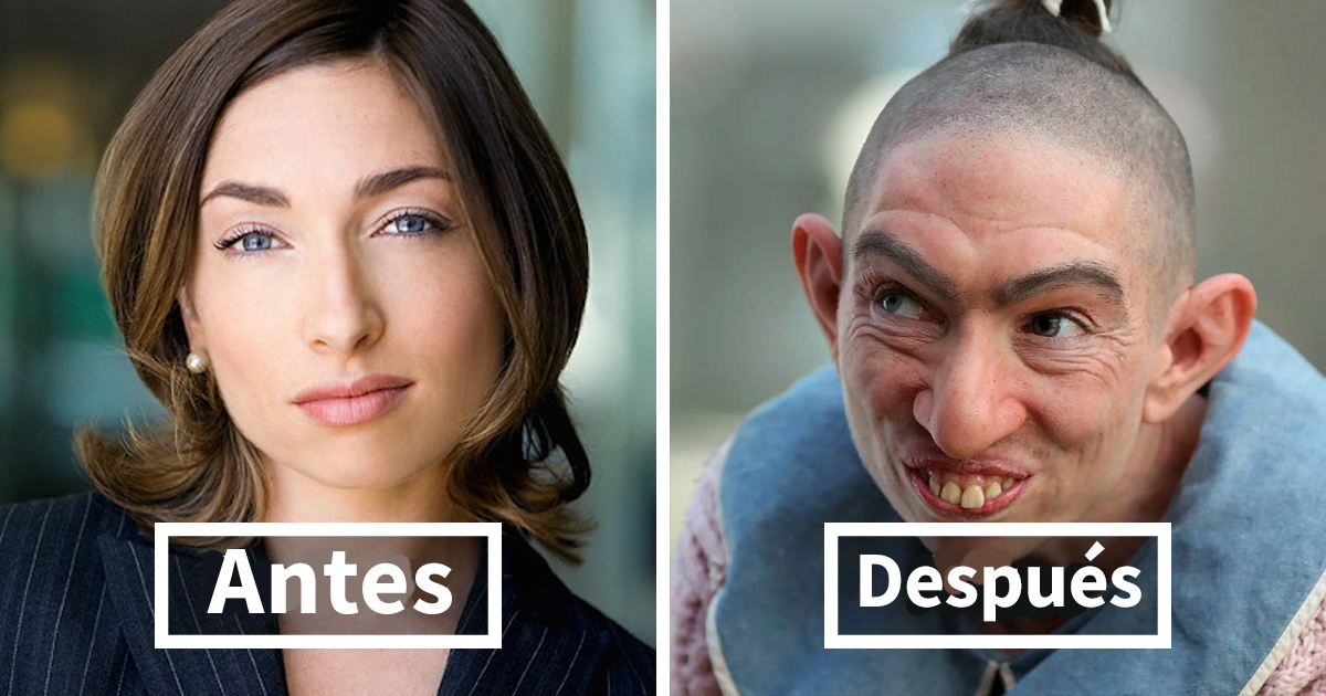 40 Fotos increíbles de actores antes y después de ponerse el maquillaje para su papel