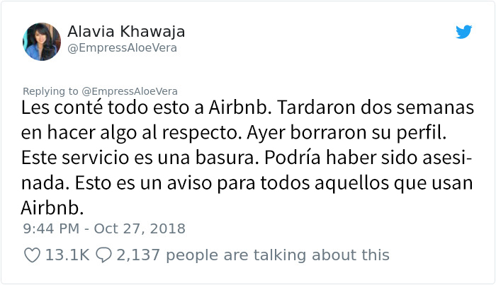 Esta mujer comparte su terrible experiencia como anfitriona de Airbnb y muestra lo peligroso que puede ser