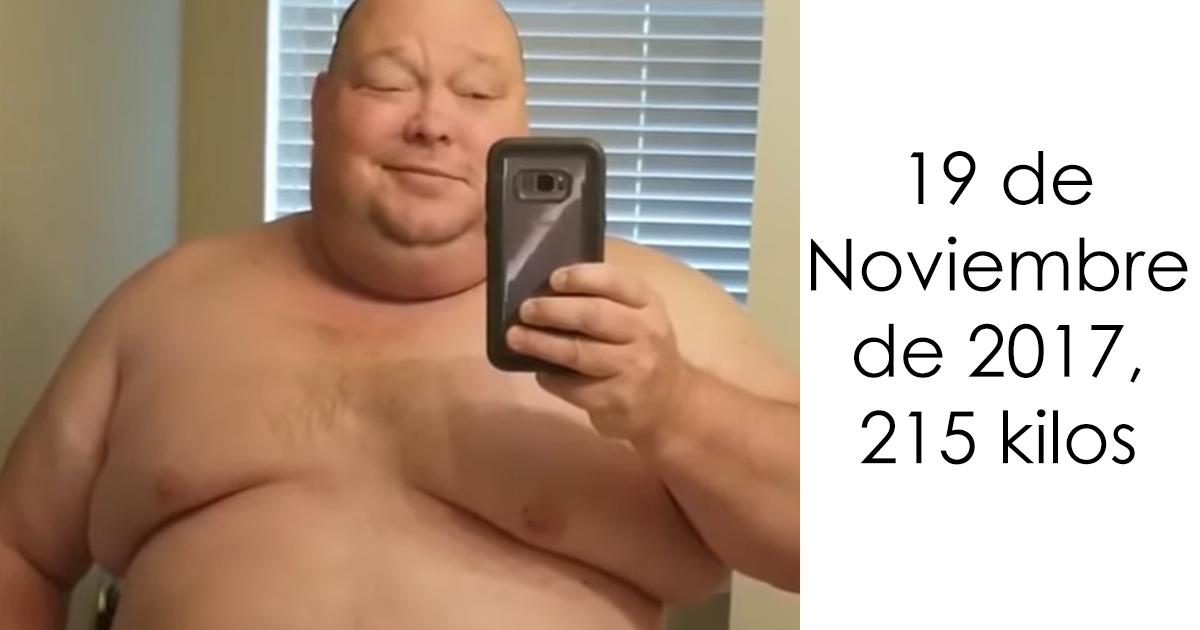 Este hombre de 215 kilos ha conseguido perder 90 en 1 año, y cuesta creer que sea la misma persona