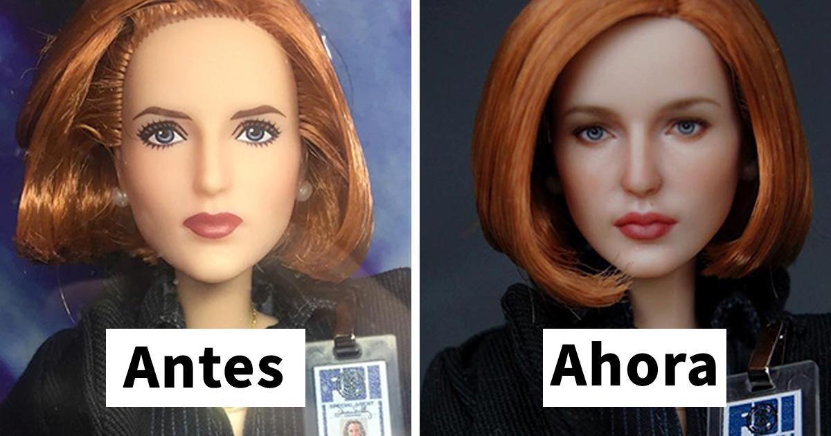 Esta artista ucrania les quita el maquillaje a las muñecas para repintarlas, y el resultado es muy auténtico (Nuevas imágenes)