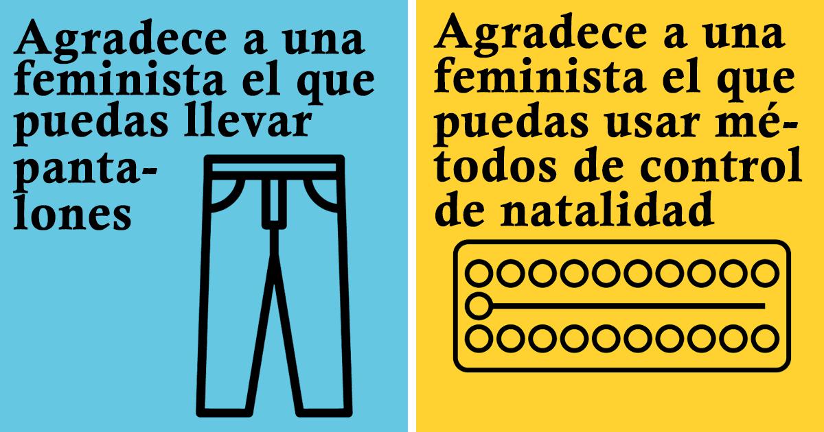 """21 Posters que muestran aquello por lo que las mujeres deberían """"agradecer a una feminista"""""""
