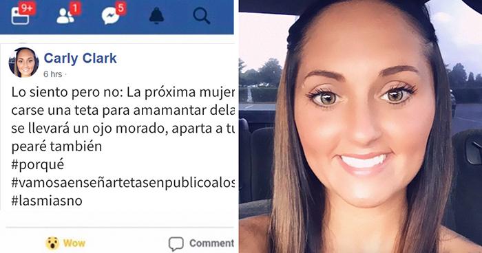 Esta madre amenaza con golpear a las mujeres que amamanten y a sus bebés, por lo que recibió reacciones negativas y perdió su empleo
