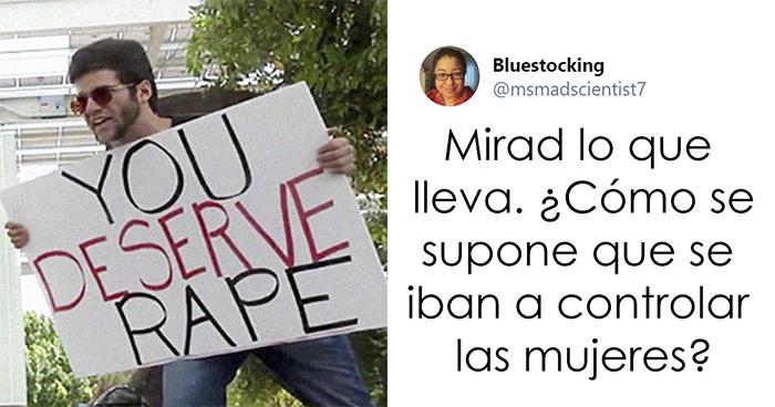 """Un predicador con un cartel que decía """"Mereces ser violada"""" fue golpeado con un bate, y los comentarios son geniales"""