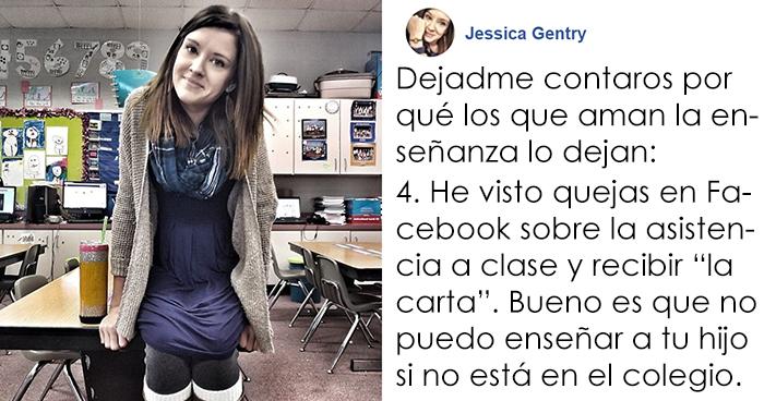 Esta profesora de jardín de infancia cuenta las 5 razones por las que dejó su trabajo y consigue 263.000 likes