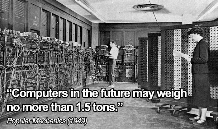 """""""Las Computadoras Del Futuro No Pesarán Más De 1,5 Toneladas"""""""