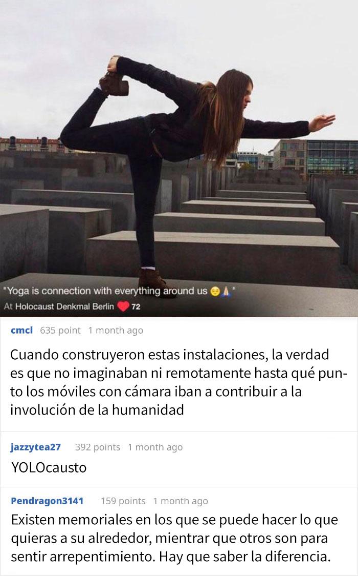 Haciendo Yoga En El Memorial Del Holocausto En Berlín