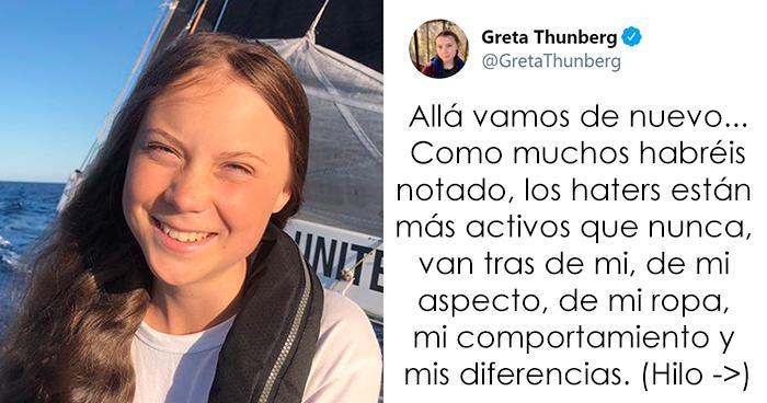 La activista Greta Thunberg deja por el suelo a sus críticos en un hilo viral de Twitter