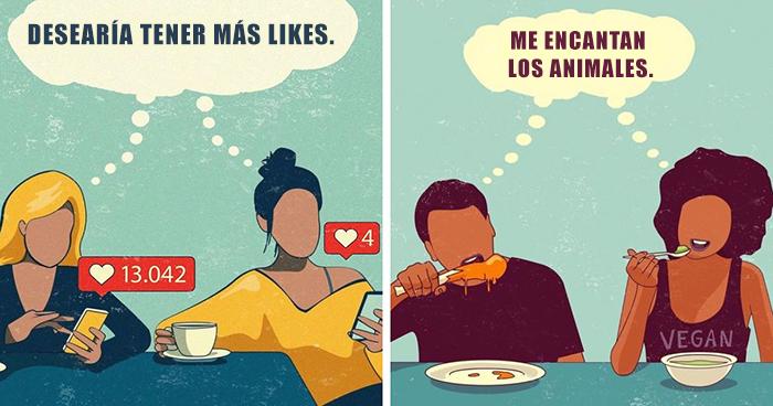 Este artista resalta los problemas de nuestra sociedad a través de 30 ilustraciones