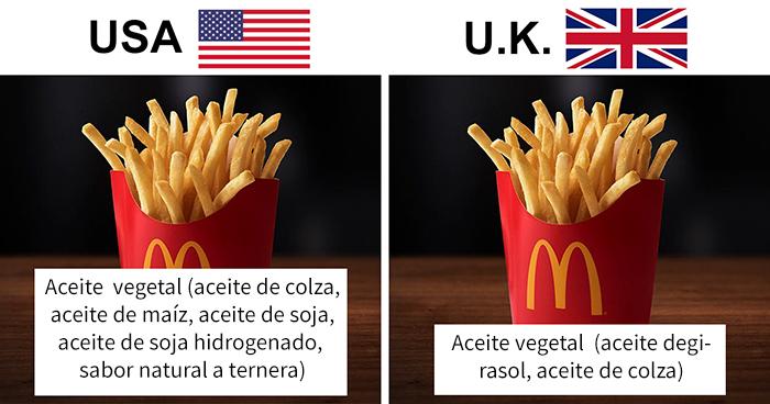 Esta mujer escribió la lista de ingredientes de productos estadounidenses y británicos, y la diferencia es inquietante