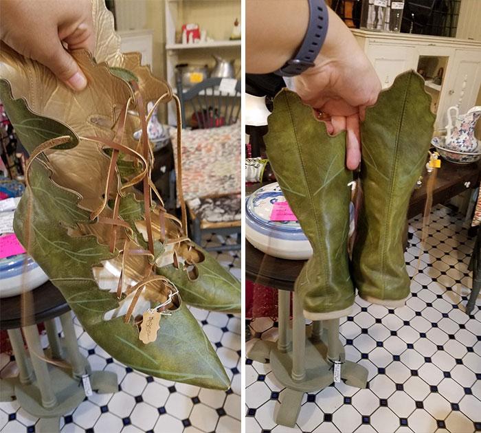 Zapatos De Cuero En Forma De Hoja, 25$