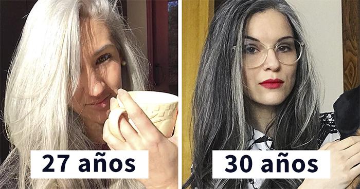 Estas 30 mujeres dejaron de teñirse el cabello, y tienen tan buen aspecto que te convencerán para hacer lo mismo (Nuevas imágenes)