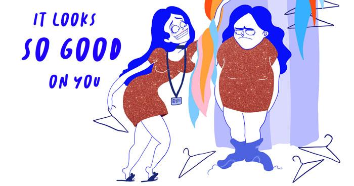 Creo Divertidas Ilustraciones A Todo Color Para Reírme De Los Problemas A Los Que Damos Demasiada Atención Las Mujeres (20 Fotos)