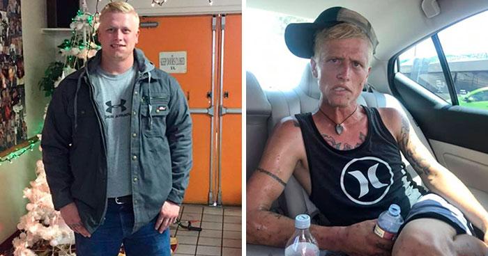 Una Madre Comparte Las Fotos De Su Hijo Mayor, Mostrando Lo Que La Adicción A La Heroína y A Las Meta-Anfetaminas Puede Hacer en 7 Meses