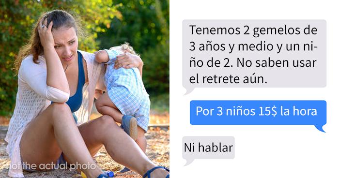 Esta niñera comparte los mensajes de unos padres que buscaban a alguien a quien explotar como mano de obra barata