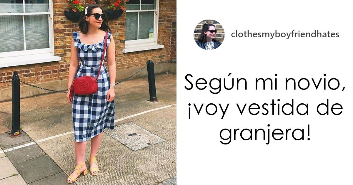 Esta mujer publica fotos de la ropa que su novio odia, añadiendo sus comentarios (30 fotos)