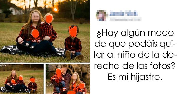 La gente avergüenza a esta madre por pedir que borraran con photoshop a su hijastro de las fotos familiares