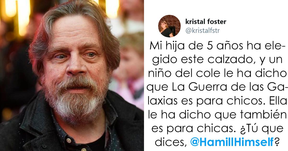 Mark Hamill responde ingeniosamente a un tuit donde contaban que a una niña de 5 años le dijeron que Star Wars no es para chicas