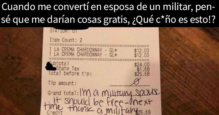 Esta presuntuosa esposa de un militar perdió la cabeza cuando un restaurante le hizo pagar el vino que había pedido